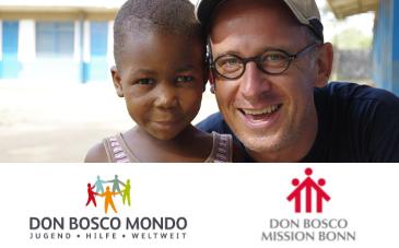 Bruder Lothar mit einem Waisenkind © Don Bosco Mission