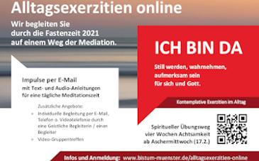 Flyer Exerzitien Bistum Münster